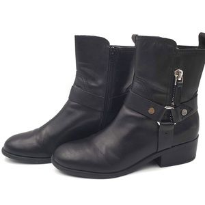 Marc Fisher Dalary black Buckle Zip Boot size 9.5M